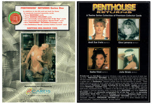 Penthouse - Returns - Series 1 - Jumbo 5x7 - R-Cards Promo Card Version A