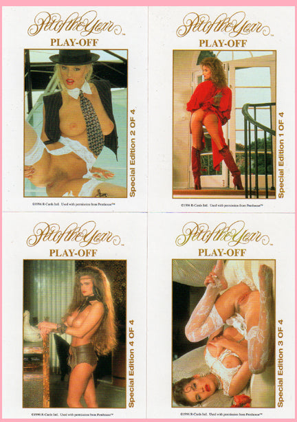 Penthouse ~ Pet of the Year Playoff - 4 Card Gold Foil Special Edition Chase Set