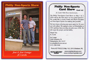 Philly Non-Sport Card Show - Red Border Promo Card #57 - JL Cards