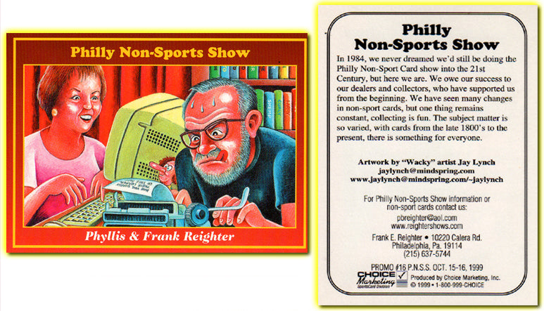 Philly Non-Sport Card Show - Red Border Promo Card #16 - Phyllis & Frank Reighter