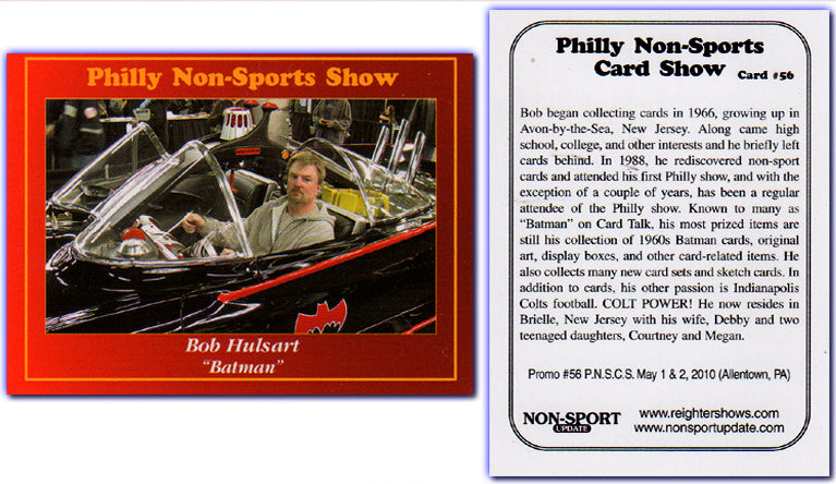 Philly Non-Sport Card Show - Red Border Promo Card #56 - Bob Hulsart