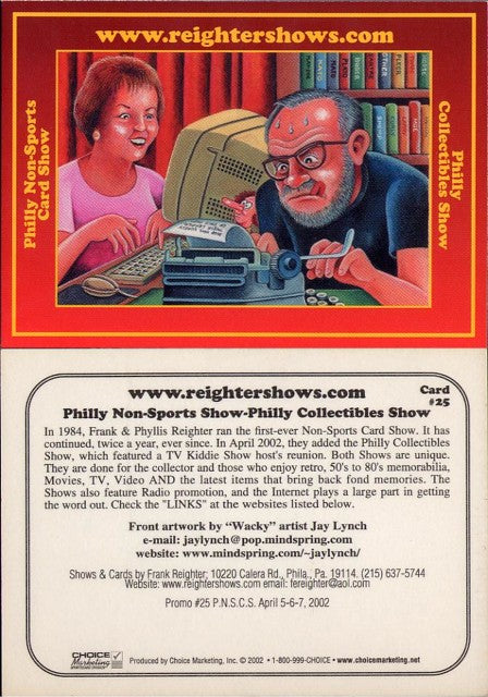 Philly Non-Sport Card Show - Red Border Promo Card #25 - ReighterShows