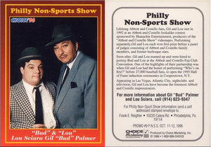 Philly Non-Sport Card Show - Red Border Promo Card #9 - Bud & Lou Palmer