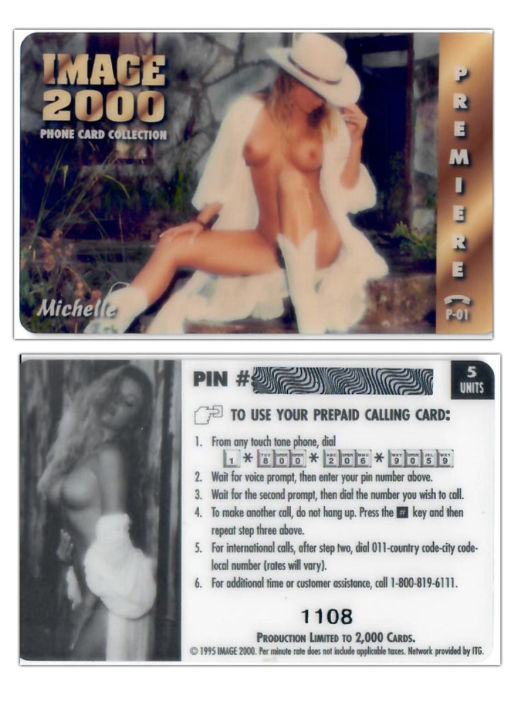 Image 2000 - Premiere - Michelle - P01 - Limited Edition Phone Card
