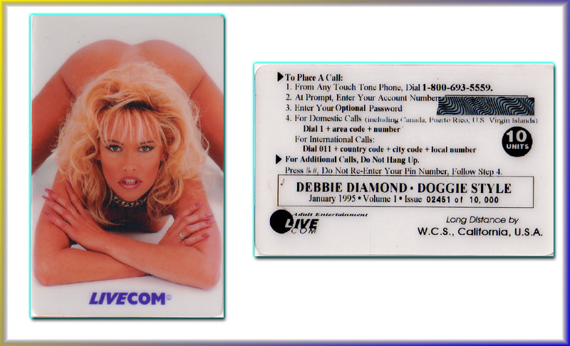 LIVECOM - Debbie Diamond - January 1995 - Phone Card - 10 Units