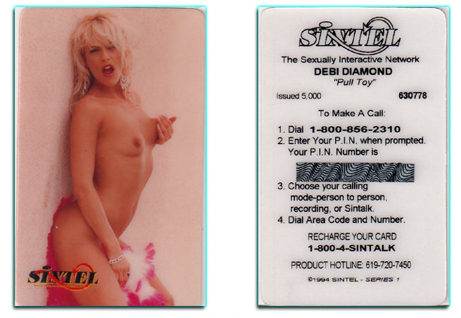 SINTEL - Debi Diamond - Pull Toy - 1994 - Phone Card