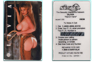 SINTEL - OLIVIA Ranch Hand - 1994 - Phone Card