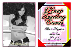 Pinup Trading Cards - Special Promo P1 of 1 - BLACK ANGELICA