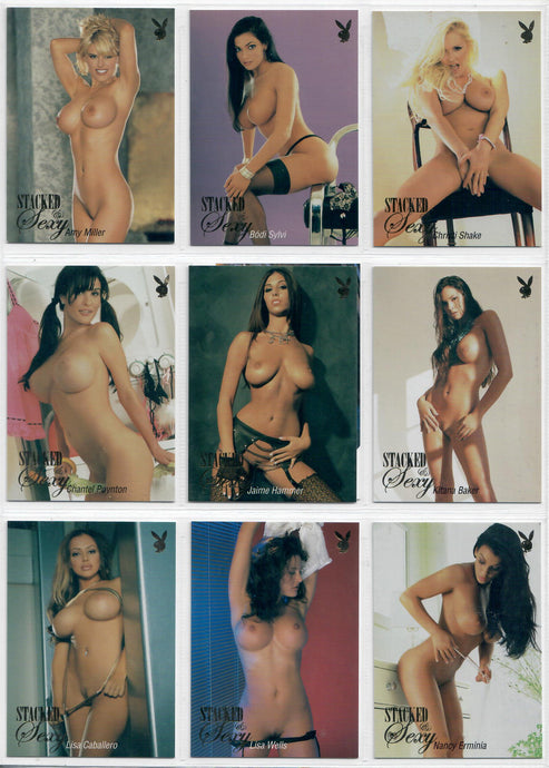Playboy - Stacked and Sexy - 10 Card Gold Foil Subset