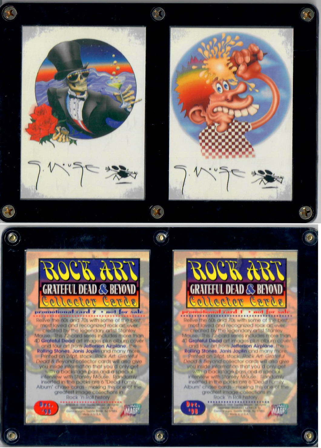 ROCK ART - Grateful Dead & Beyond - 2 Card Promo Set in Case Screwdown Case
