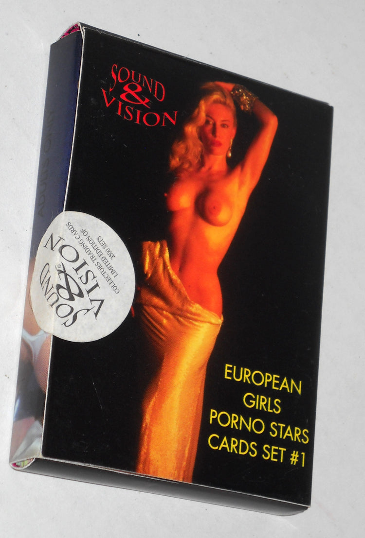 Sound & Vision - European Girls Porn Stars - Boxed Card Set w/Seal - Rare
