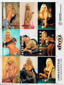 SINTEL - 6 Card Uncut Phone Card Sheet - 1-800-4-SINTALK - Blank Back Counter Slick - (Variation 2)