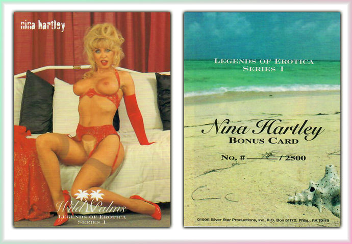 Silver Star - Wild Palms - Legends of Erotica - Nina Hartley - Limited Edition Bonus Card (Blank)