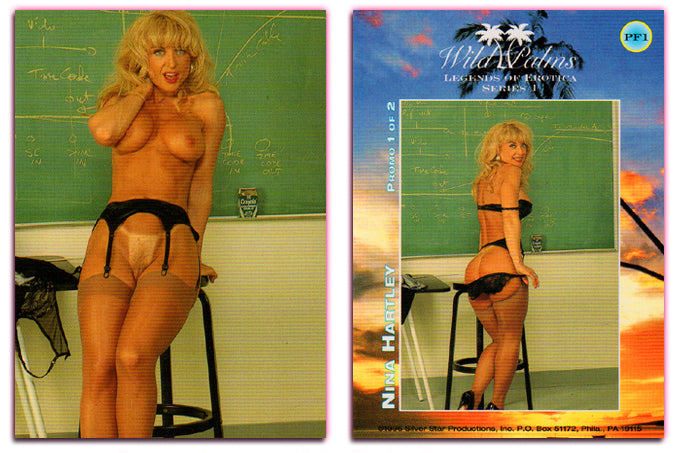 Silver Star - Wild Palms - Legends of Erotica - Nina Hartley - Promo Card PF1