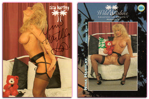 Silver Star - Wild Palms - Legends of Erotica - Nina Hartley - Promo Card PF2 - Autographed & Numbered #22 & Embossed Seal