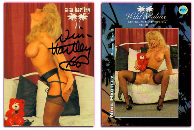 Silver Star - Wild Palms - Legends of Erotica - Nina Hartley - Promo Card PF2 - Autographed