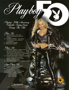 Sell Sheet - PLAYBOY - 50th Anniversery Trading Cards - Stellar - Counter Slick