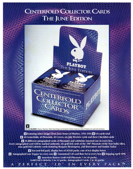Sell Sheet - PLAYBOY - Centerfold Collection JUNE Trading Cards - Stellar - Counter Slick