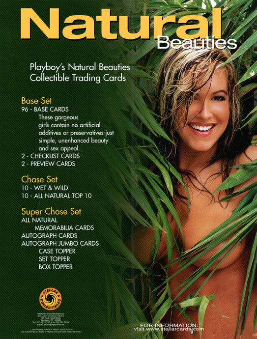Sell Sheet - PLAYBOY - Natural Beauties Trading Cards - Stellar - Counter Slick