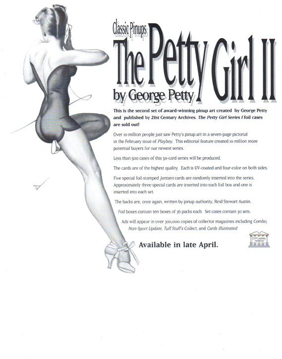 Sell Sheet - The Petty Girl II - The Art of George Petty - 21st Century Archives - Counter Slick