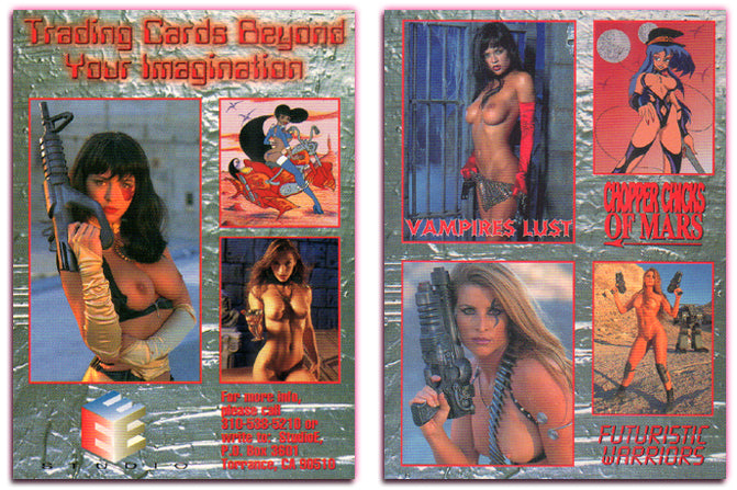Studio E Cards - Chopper Chicks, Vampires Lust, Futuristic Warriors - Promo Card
