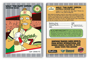 "The Simpsons - Willy ""The Dupe"" Dipkin - Promo Card P4 - Diamond Comics"
