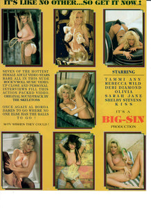 Sell Sheet - SINTEL - MOVIE STAR Shots - Limited Edition Phone Card Collector Series - BIG SIN Production - Counter Slick