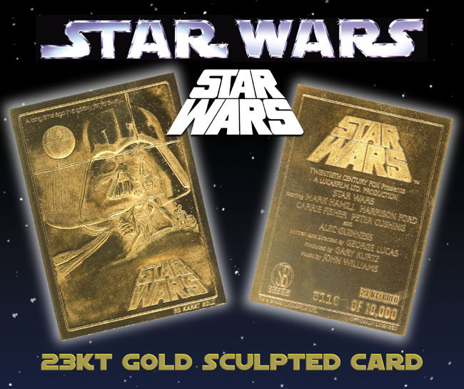 Star Wars - Limited Edition 23kt Gold Card - Original Movie Poster