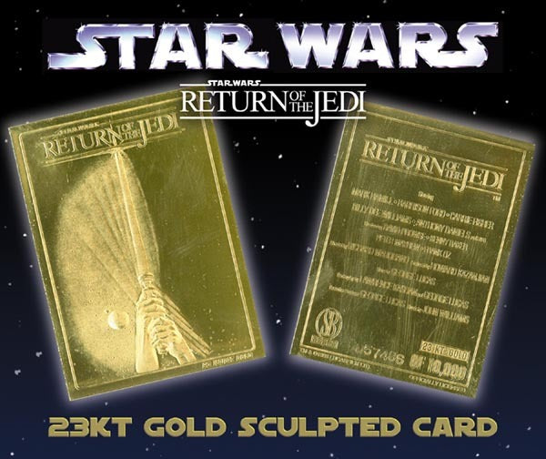 Star Wars - Limited Edition 23kt Gold Card - Return of the Jedi