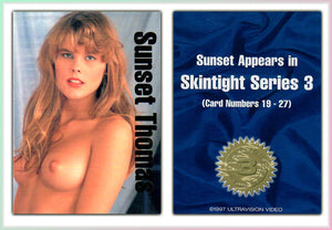 Ultravision - Sunset Thomas - Skintight Series 3 - Gold Foil - Promo Card