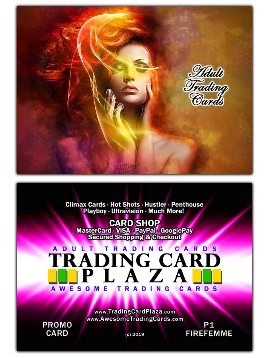 Trading Card Plaza / Awesome - Adult Trading Cards - Promo Card - P1 FireFemme