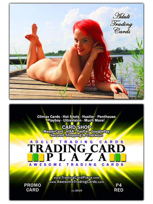 Trading Card Plaza / Awesome - Adult Trading Cards - Promo Card - P4 Red