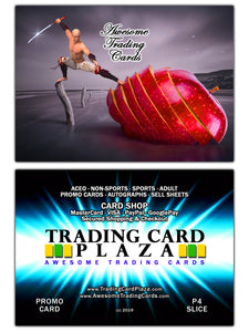 Trading Card Plaza - Awesome Trading Cards - Promo Card - P4 - Slice