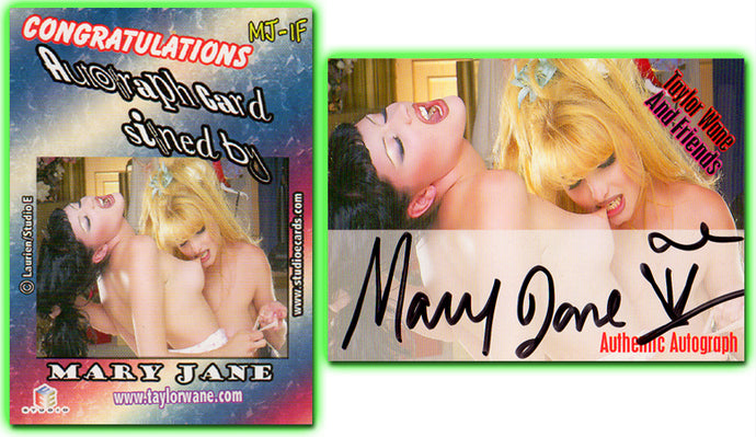 Taylor Wane & Friends - Mary Jane - Authentic Autograph Card  MJ-1F