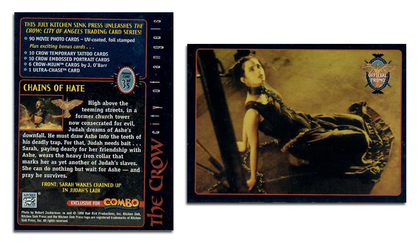 The Crow - 1996 Combo Magazine - Promo Card 3 of 5