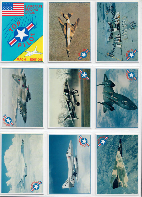 Top Pilot - Mach I Edition - Complete 15 Card Set w/ Cover Card & Checklist Card