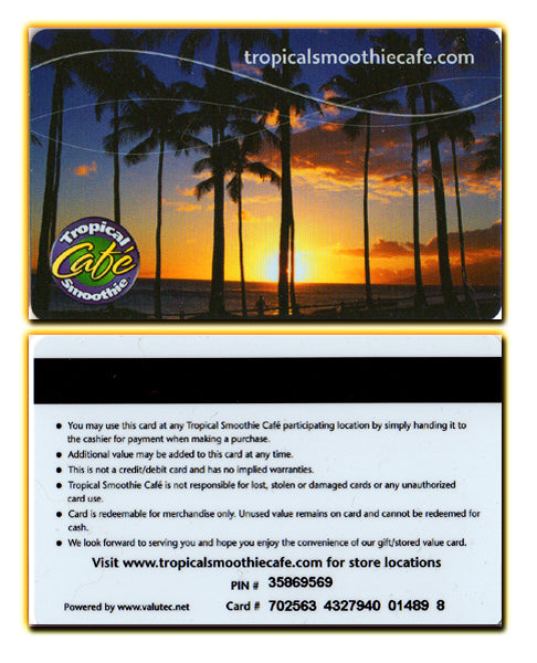 Tropical Smoothie - Beach Sunset - Gift Card
