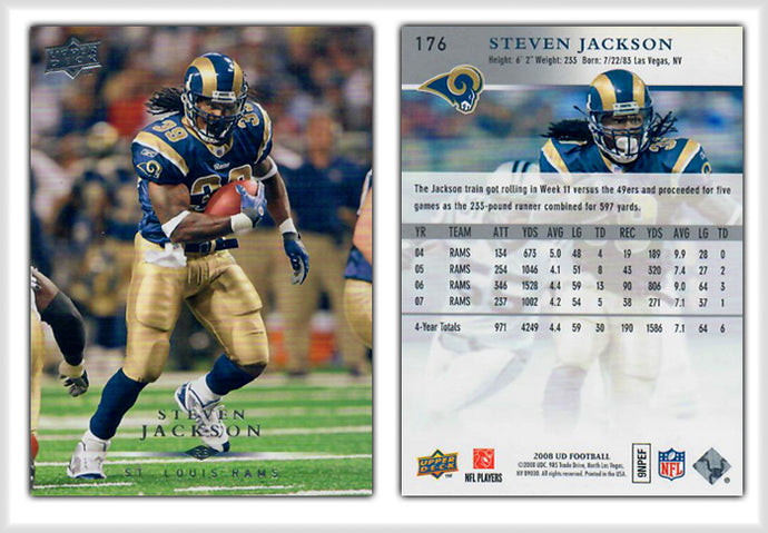 UpperDeck 2008 Football - Card 176 - Steven Jackson