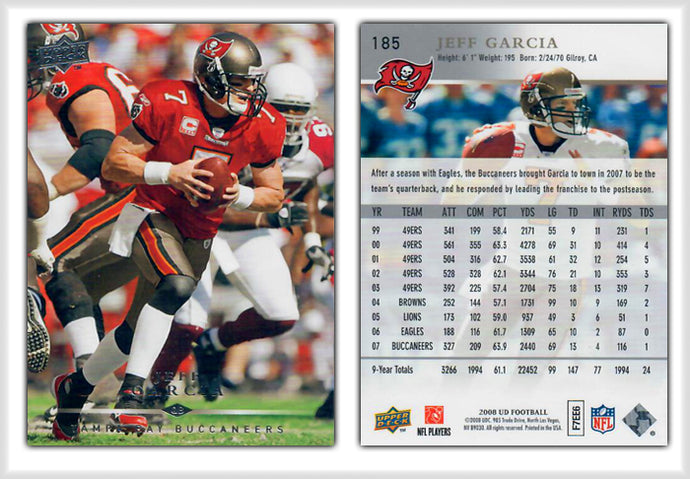 UpperDeck 2008 Football - Card 185 - Jeff Garcia