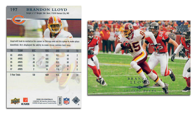 UpperDeck 2008 Football - Card 197 - Brandon Llyod
