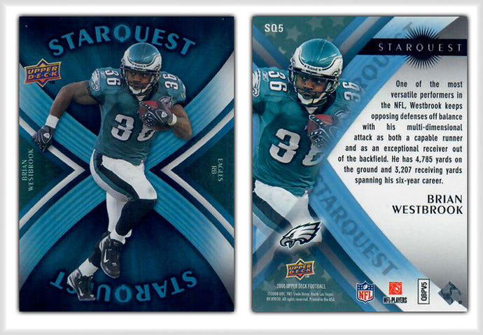 UpperDeck 2008 Football - Card SQ5 - STAR QUEST - Brian Westbrook