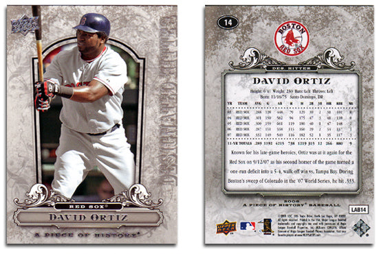 UpperDeck - A Piece of History Baseball - Card 14 Silver Foil - Red Sox - David Ortiz