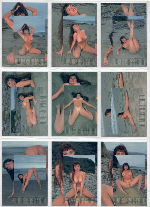 Ultravision - Julie Crawford - Amateur Girls X-Posed Series 1- Complete 9 Card Set
