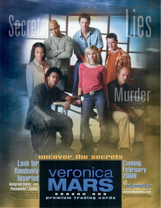 Sell Sheet - Veronica Mars - Season One - Inkworks - Counter Slick