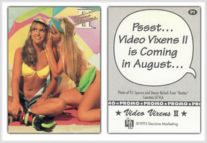 Video Vixens - Series 2 - Promo Card P1 - P.J. Sparxx & Stacey Nichols  - Decisive Marketing