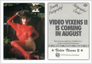 Video Vixens - Series 2 - Promo Card P3 - Summer Knight - Decisive Marketing