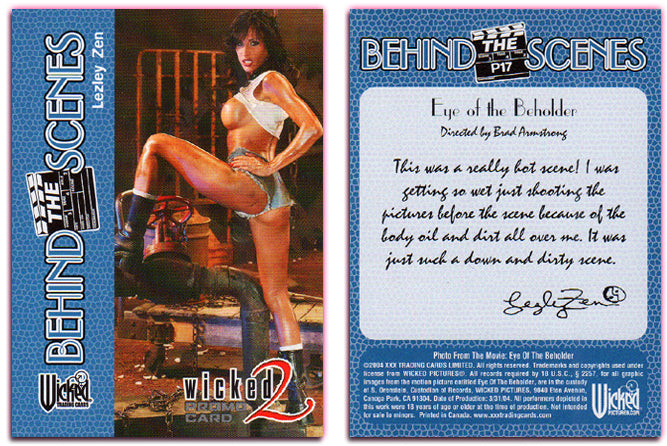 Wicked Pictures - Series 2 - PROMO Card P17 - LEZLEY ZEN