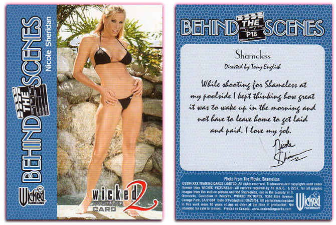 Wicked Pictures - Series 2 - PROMO Card P18 - NICOLE SHERIDAN