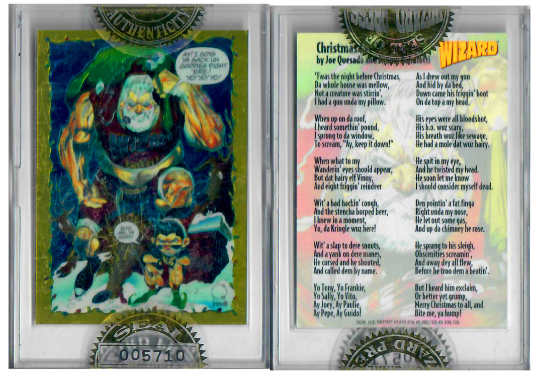 Wizard Press - Santa The Barbarian - #005710 - Limited Edition Foil Sealed Case