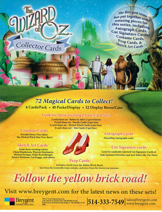 Sell Sheet - Wizard of Oz - Follow The Yellow Brick Road - Breygent Counter Slick
